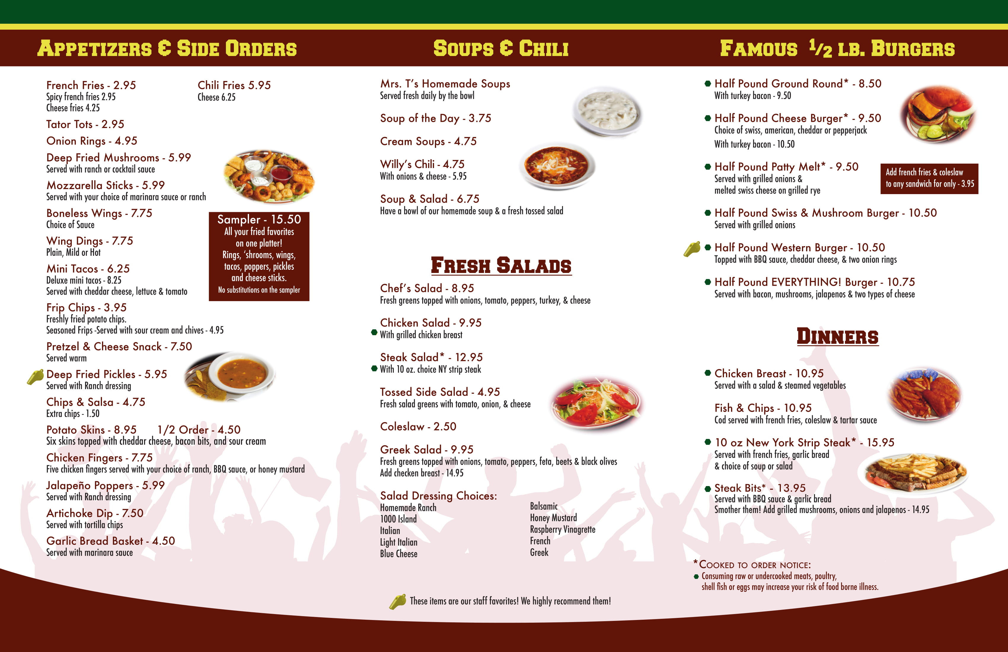 Stables Menu pg1
